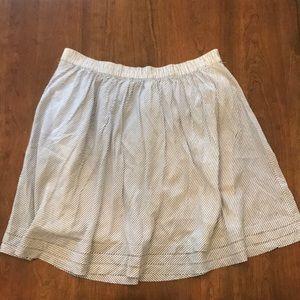 Gap Blue Pinstripe Cotton Skirt